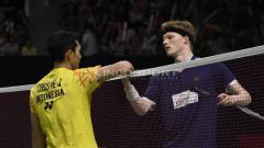 Indosport - Jonatan Christie memiliki rekor yang lebih baik ketika bersua Anders Antonsen jelang BWF World Tour Finals 2019.