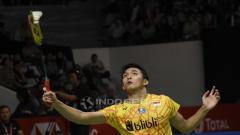 Indosport - Jonatan Christie gagal melaju ke final Indonesia Masters 2019 usai ditundukan Antonsen.