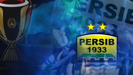 Ilustrasi logo Persib Bandung dan trofi Piala Indonesia. - INDOSPORT