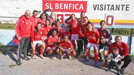 Tim sepak bola wanita Benfica menang 32-0 - INDOSPORT