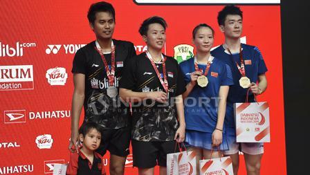 Pasca final Ganda Campuran Indonesia Master 2019, Tontowi Ahmad/Liliyana Natsir dan Zheng Siwei/Huang Yaqiong