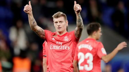Toni Kroos, playmaker Real Madrid. - INDOSPORT