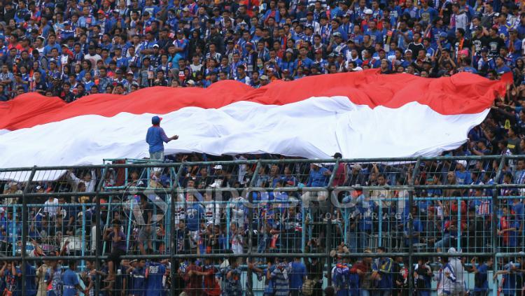 Antusiasme Aremania dukung Arema FC. Copyright: Ian Setiawan/INDOSPORT
