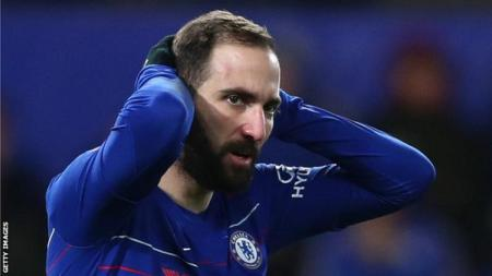 Gonzalo Higuain yang kini membela Chelsea. - INDOSPORT