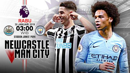 Pertandingan Newcastle United vs Manchester City. - INDOSPORT