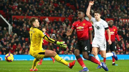 Peluang Paul Pogba namun masih terjebak offside - INDOSPORT