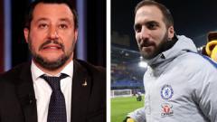 Indosport - Higuain membalas sindiran pedas yang dilontarkan oleh Perdana Menteri Italia, Matteo Salvini.