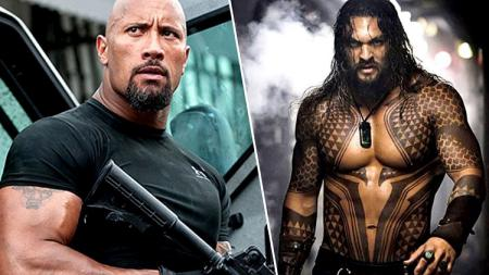 The Rock dan Aquaman - INDOSPORT