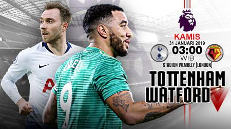 Pertandingan Tottenham Hotspur vs Watford. - INDOSPORT