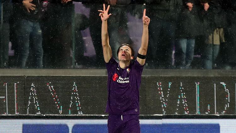 Federico Chiesa mencetak gol ke gawang AS Roma Copyright: Getty Images