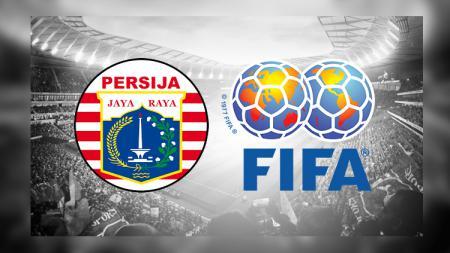 Logo Persija Jakarta dan logo FIFA - INDOSPORT