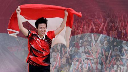 Liliyana Natsir pemain bulutangkis ganda campuran terbaik di Indonesia galang dukungan untuk para juniornya di Indonesia Open 2019. - INDOSPORT