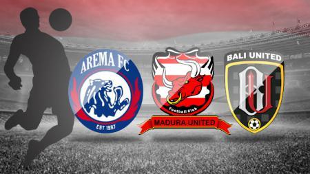 Arema, Madura United, Bali United - INDOSPORT
