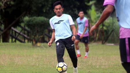 Seto Nurdiyantoro ikut berlatih bersama PSS Sleman. - INDOSPORT