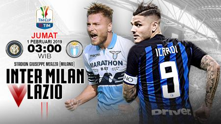 Pertandingan Inter Milan vs Lazio. - INDOSPORT