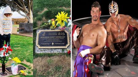 Rey mengunjungi makam sahabatnya setelah 13 tahun sejak kematian Eddie Guerrero - INDOSPORT