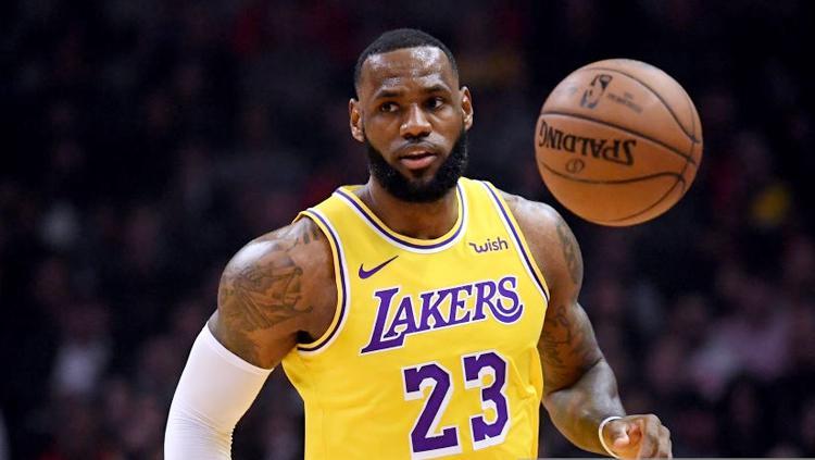 LeBron James pemain LA Lakers Copyright: GettyImages