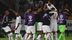 Indosport - Qatar Cetak Gol ke Gawang Jepang