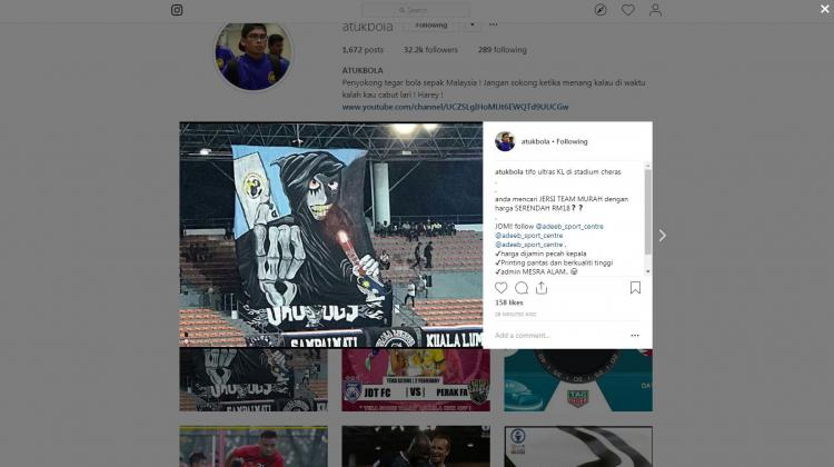 Koreografi Kuala Lumpur FA Copyright: Instagram.com/atukbola