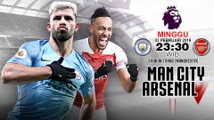 Indosport - Pertandingan Manchester City vs Arsenal.
