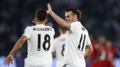 Indosport - Marcos Llorente (kiri) dan Gareth Bale, 2 pemain Real Madrid.