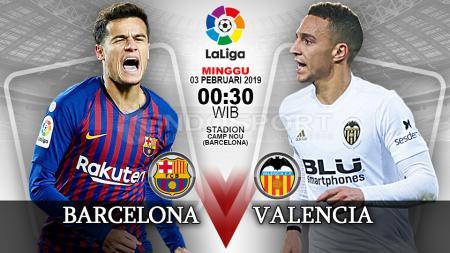 Pertandingan Barcelona vs Valencia. - INDOSPORT