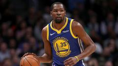 Indosport - Kevin Durant, pemain bintang Golden State Warriors.