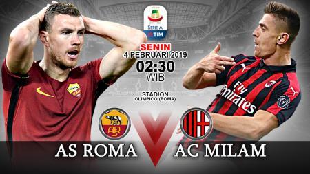Pertandingan AS Roma vs AC Milan. - INDOSPORT