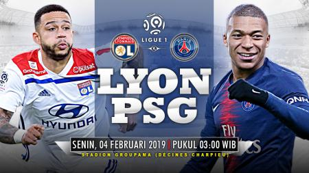 Ilustrasi prediksi pertandingan Lyon vs Paris Saint-Germain. - INDOSPORT