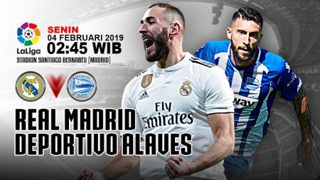 Pertandingan Real Madrid vs Deportivo Alaves. - INDOSPORT