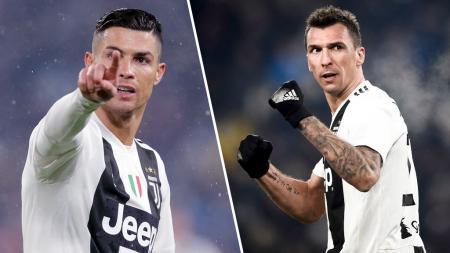 Cristiano Ronaldo dan Mario Mandzukic. - INDOSPORT