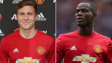 Dua pemain belakang Man United, Victor Lindelof dan Eric Bailly - INDOSPORT