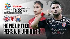 Indosport - Pertandingan Home United vs Persija Jakarta.