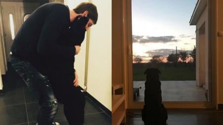Foto anjing Sala diunggah oleh sang adik, Romina. - INDOSPORT