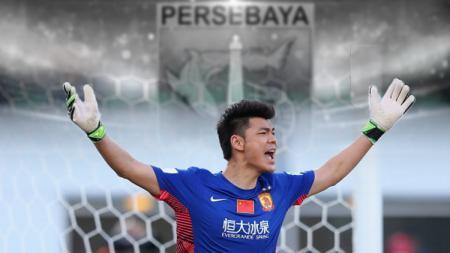 Eks penjaga gawang Persebaya Surabaya, Zeng Cheng, berperan meloloskan Guangzhou Evergrande ke semifinal Liga Champions Asia 2019. - INDOSPORT