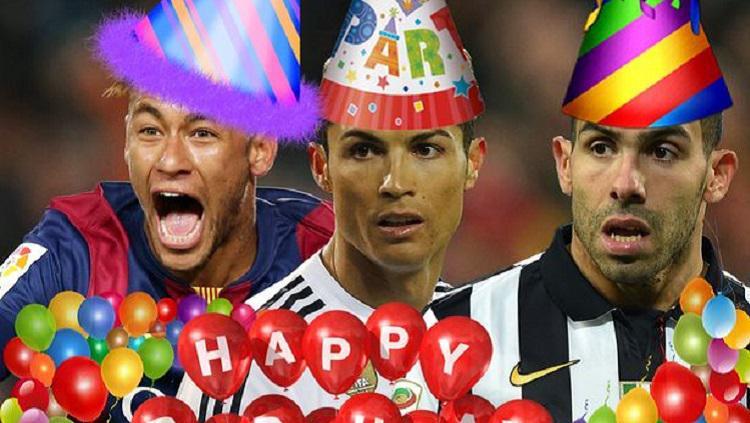 Cristiano Ronaldo, Neymar dan Carlos Tevez merayakan ulang tahun di hari Imlek Copyright: Sport Express