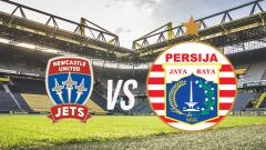 Indosport - Ilustrasi logo Newcastle United Jets vs Persija Jakarta