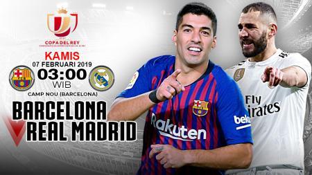 Pertandingan Barcelona vs Real Madrid. - INDOSPORT