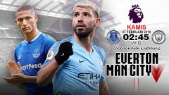 Indosport - Pertandingan Everton vs Manchester City.