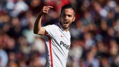 Indosport - Pablo Sabaria, striker Sevilla.