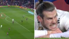 Indosport - Gareth Bale membuang momen kemenangan Real Madrid di Camp Nou