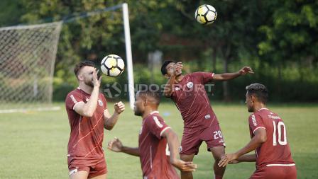 Latihan skuat Persija ini sebagai persiapan laga kualifikasi Liga Champions Asia melawan wakil Australia.