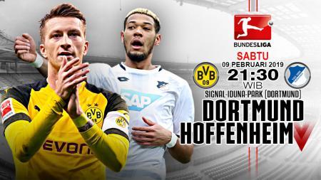 Pertandingan Borussia Dortmund vs Hoffenheim. - INDOSPORT