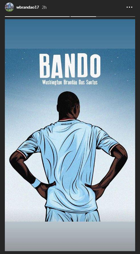 Washintong Brandao resmi merapat ke Persela? Copyright: Instagram/Washington Brandao