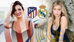 Indosport - Battle WaGs Atletico Madrid vs Real Madrid
