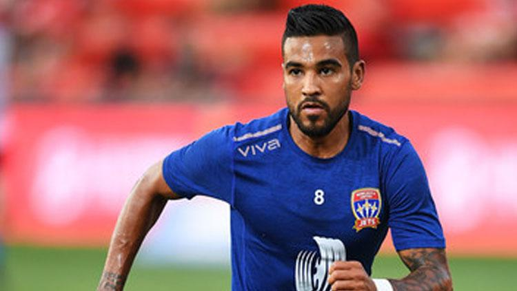 Ronald Vargas pemain Newcastle Jets Copyright: Istimewa