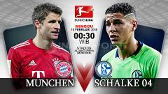Indosport - Pertandingan Bayern Munchen vs Schalke 04.