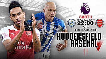 Pertandingan Huddersfield Town vs Arsenal. - INDOSPORT
