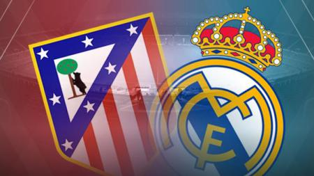 Ilustrasi logo pertandingan Atletico Madrid vs Real Madrid. - INDOSPORT