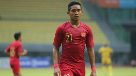Gelandang Bali United Kadek Agung Widnyana berkostum Timnas Indonesia U-22. - INDOSPORT